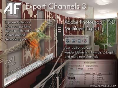 AF Export Channels 3.21 for 3ds Max
