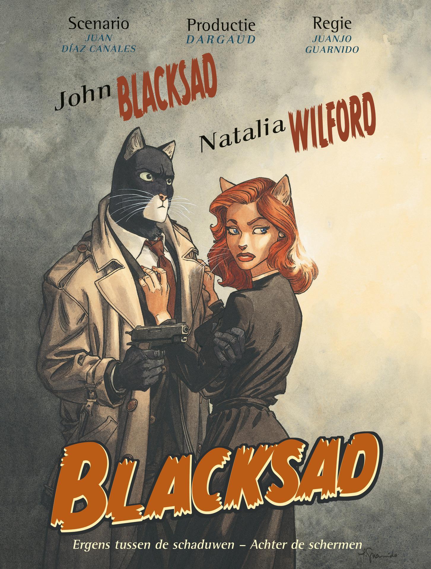 Blacksad A01 Ergens Tussen De Schaduwen  Achter De Schermen