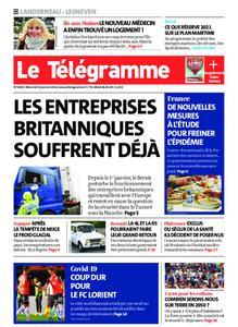 Le Télégramme Landerneau - Lesneven – 13 janvier 2021