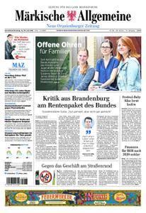 Neue Oranienburger Zeitung - 14. Juli 2018