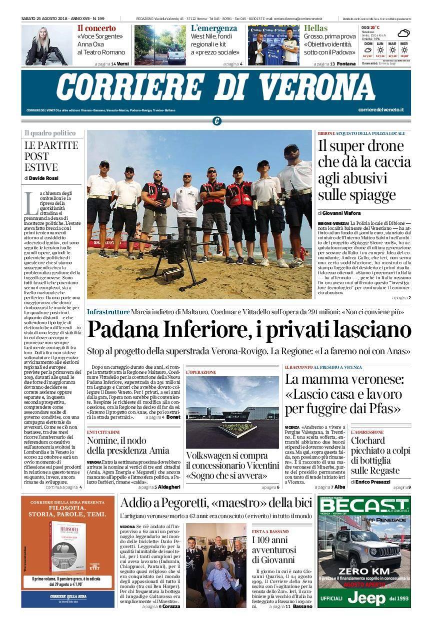 Corriere Di Verona August 25 2018 Avaxhome