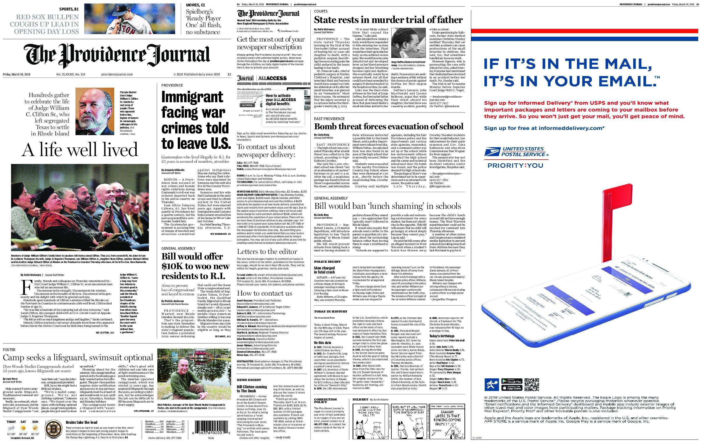 The Providence Journal – March 30, 2018 / AvaxHome
