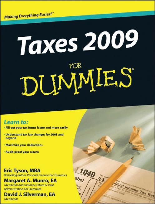 Taxes 2009 For Dummies (Taxes for Dummies) by David J. Silverman [Repost]