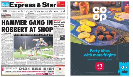 Express and Star Sandwell Edition – October 29, 2018