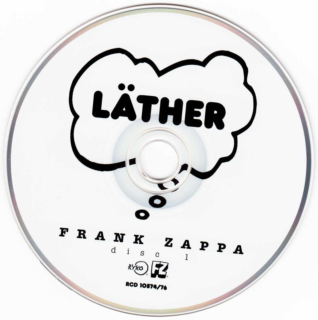 Frank Zappa Lather 1996 3cd Set Rykodisc Rcd10574 76