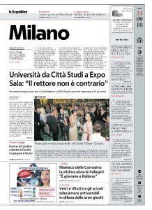 la Repubblica Milano - 24 Settembre 2018