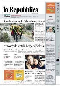 la Repubblica - 21 Agosto 2018