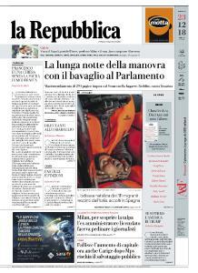 la Repubblica - 23 Dicembre 2018