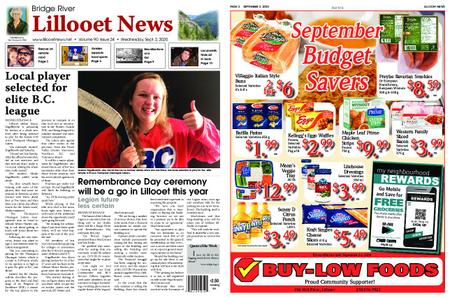 Bridge River Lillooet News – September 02, 2020