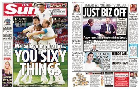 The Sun UK – 25 June 2018