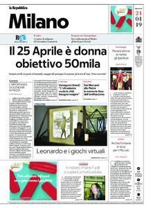 la Repubblica Milano – 24 aprile 2019