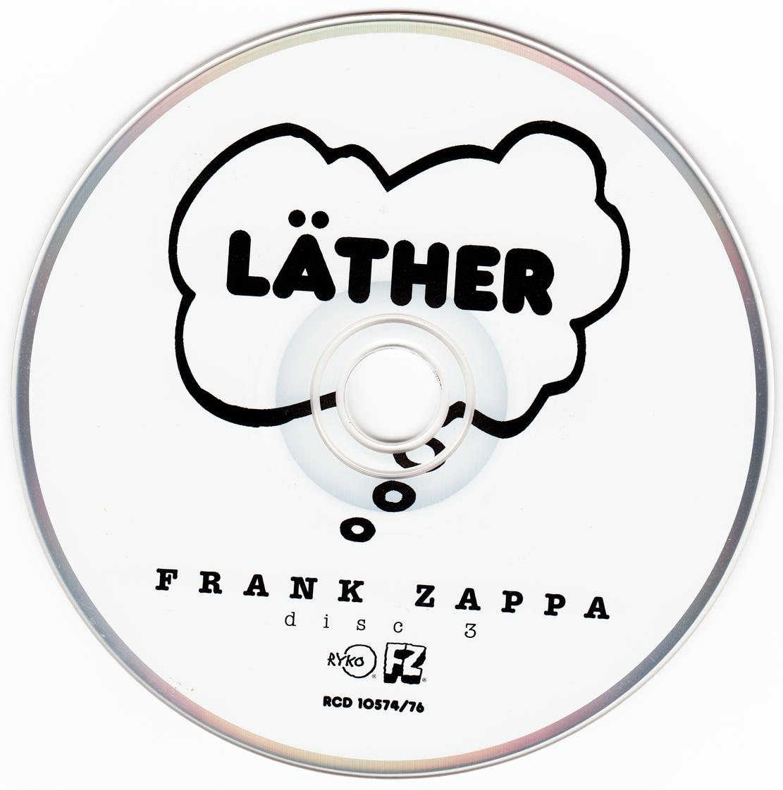 Frank Zappa Lather 1996 3cd Set Rykodisc Rcd10574 76