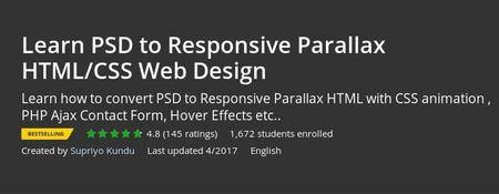 Udemy - Learn PSD to Responsive Parallax HTML/CSS Web Design (Repost)