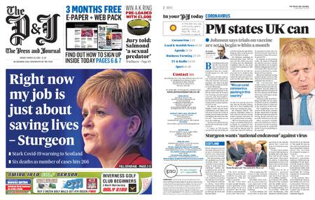 The Press and Journal Moray – March 20, 2020