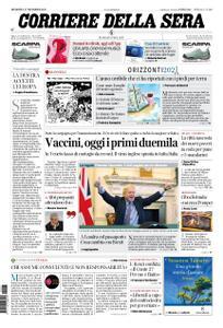 Corriere della Sera – 27 dicembre 2020
