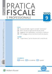 Pratica Fiscale e Professionale N.9 - 2 Marzo 2020