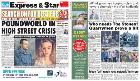 Express and Star Sandwell Edition – June 12, 2018