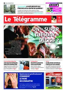 Le Télégramme Quimper – 02 mars 2020