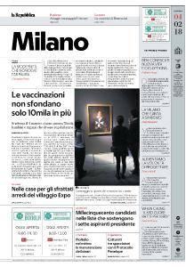 la Repubblica Milano - 4 Febbraio 2018