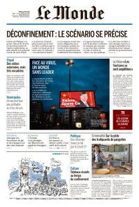 Le Monde du Mardi 21 Avril 2020