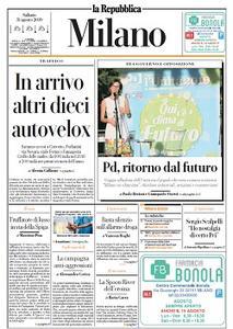 la Repubblica Milano - 31 Agosto 2019