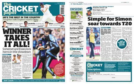 The Cricket Paper – September 22, 2019