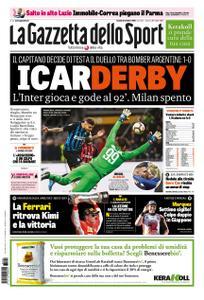 La Gazzetta dello Sport Roma – 22 ottobre 2018