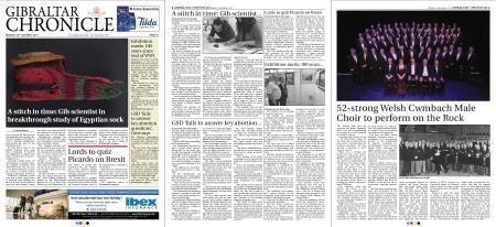 Gibraltar Chronicle – 22 October 2018