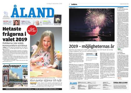 Ålandstidningen – 29 december 2018
