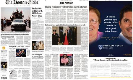 The Boston Globe – October 15, 2019