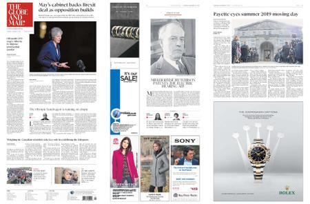 The Globe and Mail – November 15, 2018