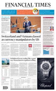 Financial Times Europe - December 17, 2020