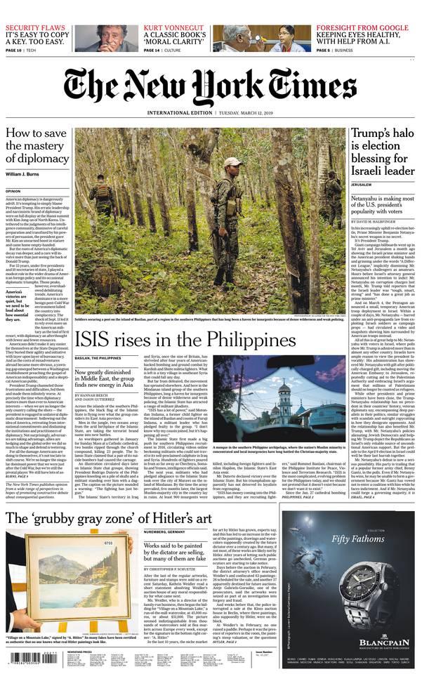 International New York Times - 12 March 2019