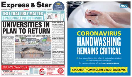 Express and Star Sandwell Edition – May 25, 2020