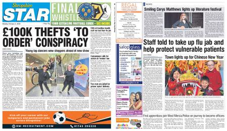 Shropshire Star Shrewsbury Edition – February 03, 2020