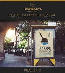 GraphicRiver - Street Billboard Mockup Template