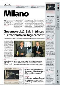 la Repubblica Milano - 11 Gennaio 2019