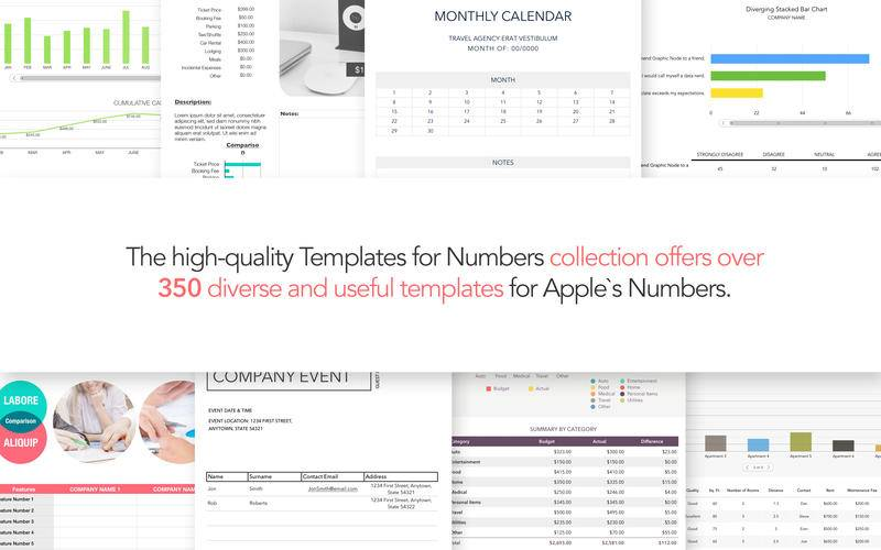 Templates for Numbers by Graphic Node 4.7 Mac OS X