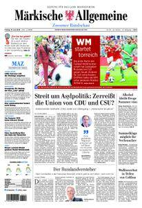 Märkische Allgemeine Zossener Rundschau - 15. Juni 2018