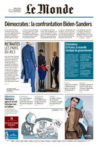 Le Monde du Mardi 3 Mars 2020