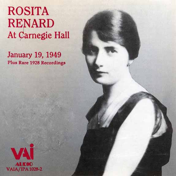 Rosita Renard at Carnegie Hall [Live] 19 January 1949 plus Rare Recordings from 1928 [2 CDs] [Re-up+new rip]