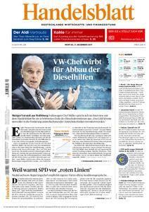 Handelsblatt - 11. Dezember 2017