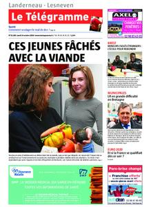 Le Télégramme Landerneau - Lesneven – 14 octobre 2019