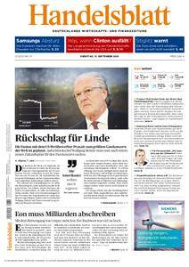 Handelsblatt - 13. September 2016