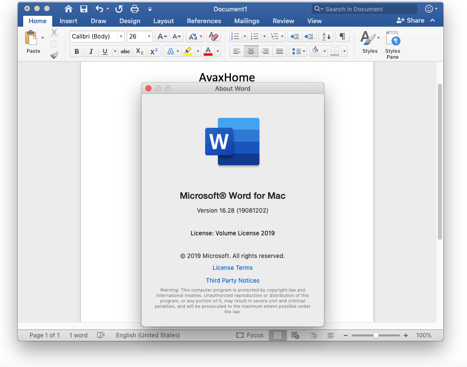 Microsoft Office 2019 for Mac v16.28 VL Multilingual