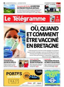 Le Télégramme Landerneau - Lesneven – 16 janvier 2021