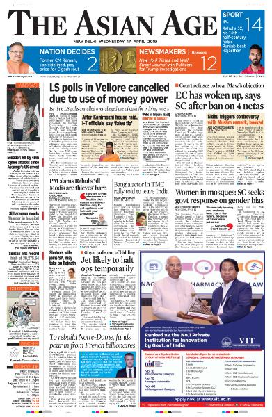The Asian Age - April 17, 2019