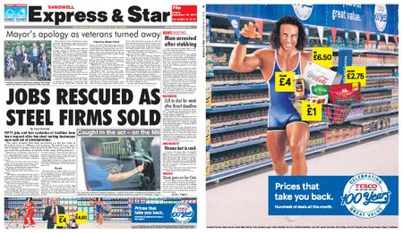Express and Star Sandwell Edition – September 27, 2019