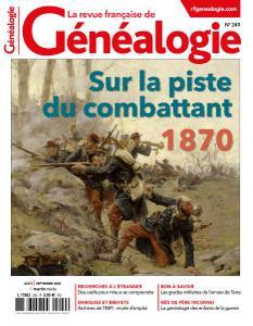 La Revue française de Généalogie - Août-Septembre 2020