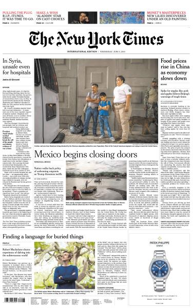 International New York Times - 5 June 2019